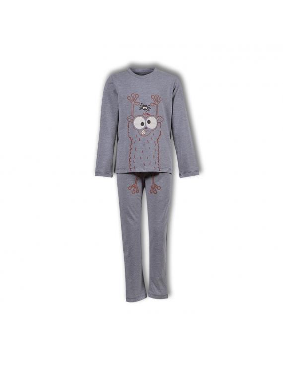 Woody - Unisex Pyjama - Grijs Melange, Spookdier