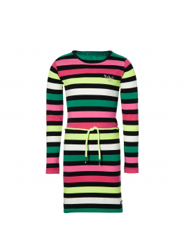 Quapi - Jurk - Daantje - Multi Colour Stripe