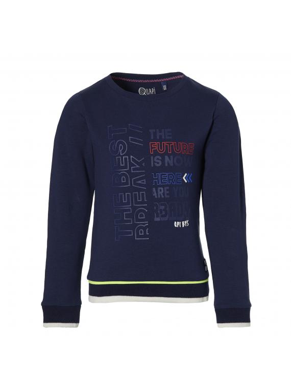 Quapi - Sweater - Dave - Dark Blue
