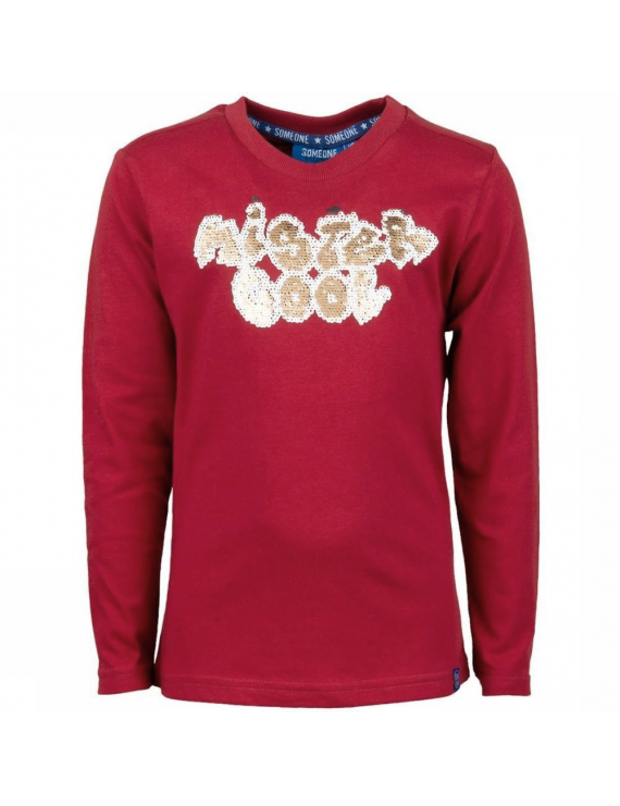 Someone - Longsleeve - Graffiti - Medium Red