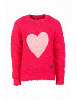 Someone - Sweater - Heart - Medium Pink
