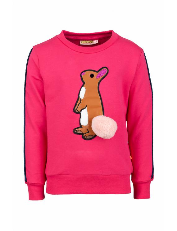 Someone - Sweater - Flock - Bright Pink