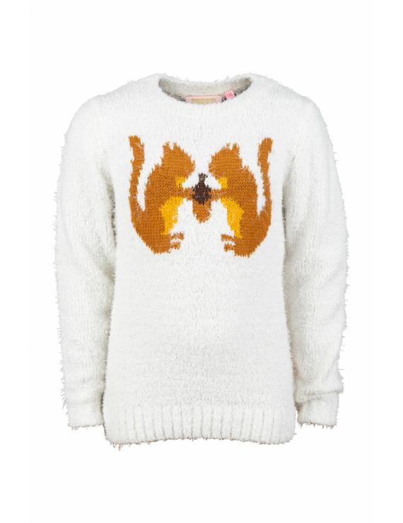 Someone - Sweater - Leafy - Ecru