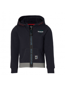 Quapi - Hooded Cardigan - Dinand - Dark Grey