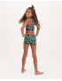 Claesen's - Girls Crop Top - Green Panther