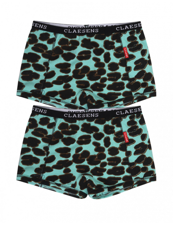 Claesen's - Girls 2-pack Boxershorts - Green Panther