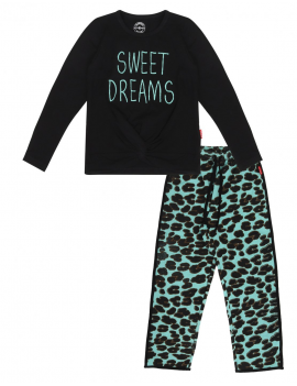 Claesen's - Girls Pyjama's - Green Panther