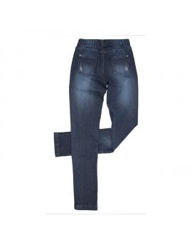 Gymp - Jeansbroek - Blauw met steentjes