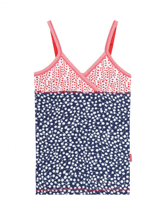 Claesen's - Girls Singlet - Dots Leaves