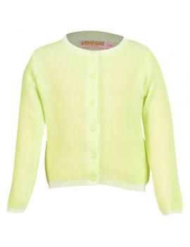 Someone - Strickjacke - Plus - Fluo Yellow