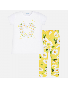 Mayoral - Set Legging + T-Shirt - Margaritas