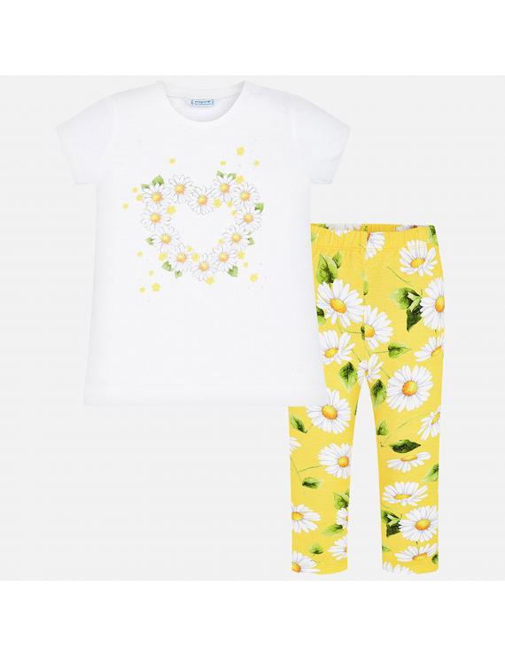 Mayoral - Ensemble Legging + T-shirt - Margaritas