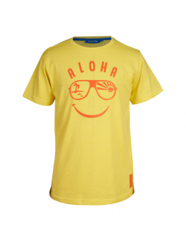 Someone - T-Shirt - Aloha - Geel
