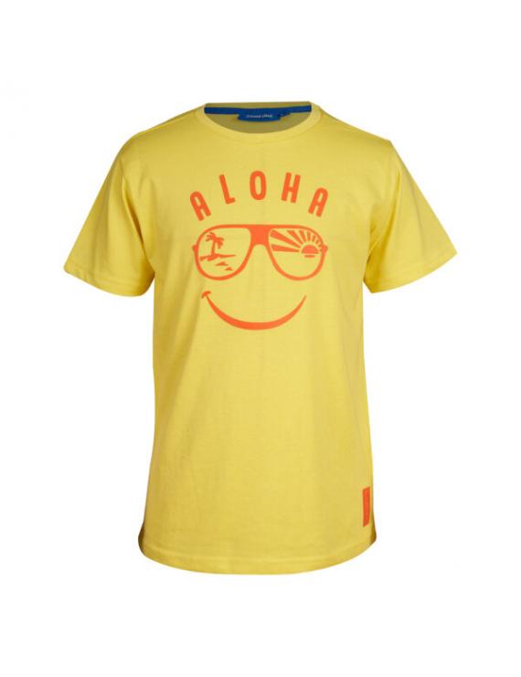 Someone - T-Shirt - Aloha - Jaune