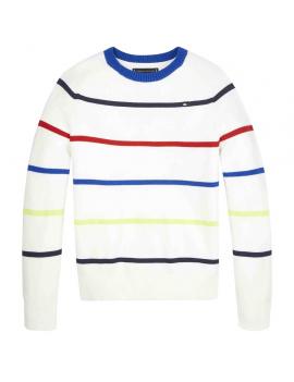 Tommy Hilfiger - Sweater - Stripes - White