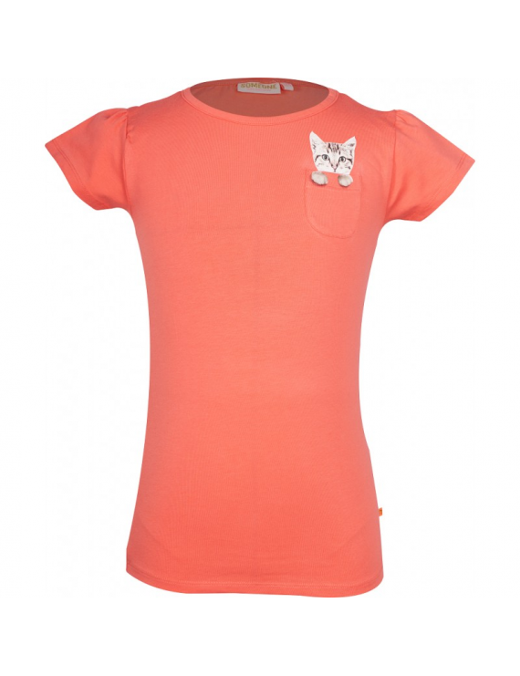 Someone - T-Shirt - Kitty - Coral