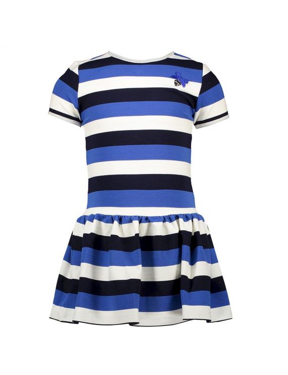 Le Chic - Jurk - Stripes - Blauw