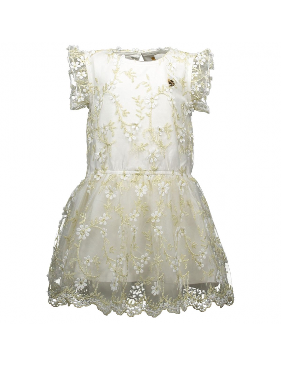 Le Chic - Jurk - Flowers - Off White