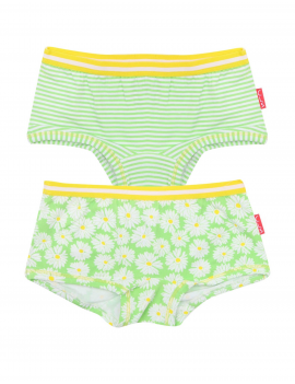 Claesen's - Girls 2-pack Hipster - Daisy Stripes