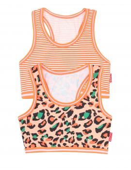 Claesen's - Girls 2-Pack Crop Top - Panther Stripes