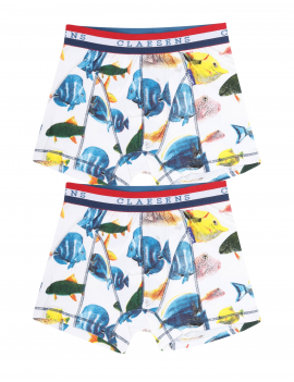 Claesens - Boys 2-Pack Boxershorts - Fish