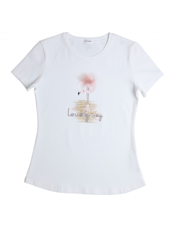 Gymp - T-shirt - Lovely Day - White/Pink