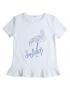 Gymp - T-shirt - Flamingo - White/Blue