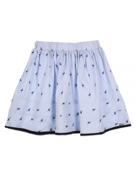 Gymp - Skirt - Flamingo - Lightblue / Navy