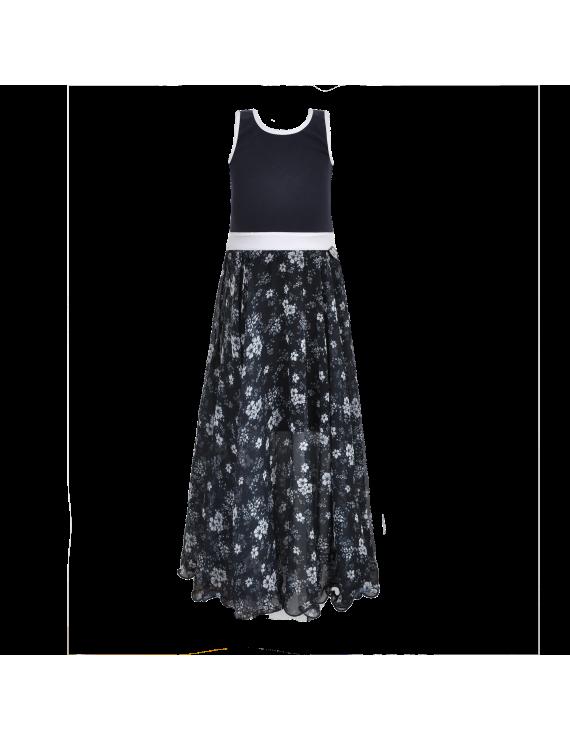 LoFff - Jurk - Maxi Dress Blue Flower