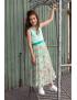 LoFff - Jurk - Maxi Dress Mint Flower