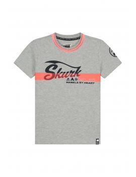 Skurk - T-Shirt - Tibbe - Grey Melange