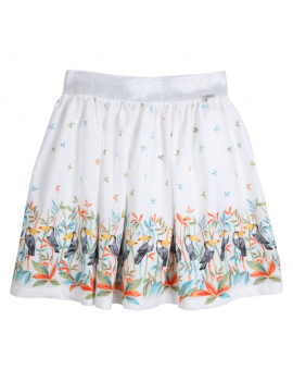 Gymp - Skirt - Toekan - White / Multi