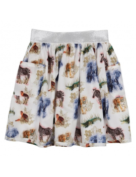 Gymp - Skirt - Animals - Off White / Multi