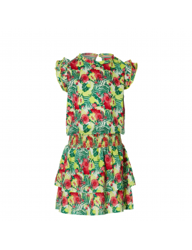 Quapi - Jurk - Farelle - Multi Color Flower