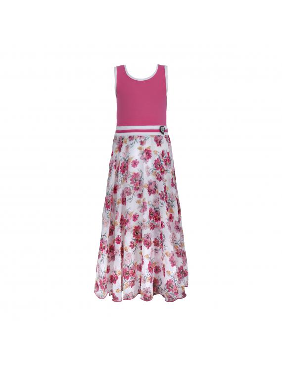 LoFff - Jurk - Maxi Dress Multiflower White