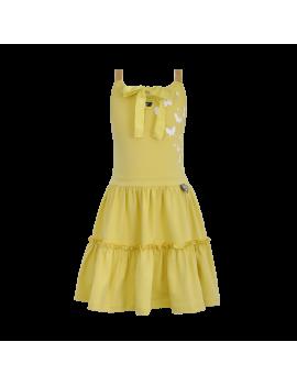 LoFff - Jurk - Fancy Dress Gold Strap Yellow