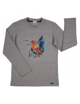 Gymp - Longsleeve - Time To Rule - Grey Chine