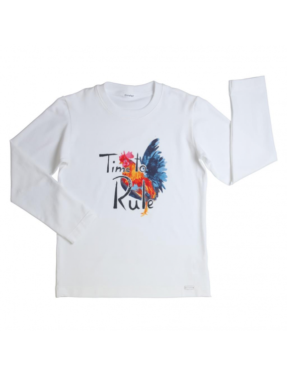 Gymp - Longsleeve - Time To Rule - White