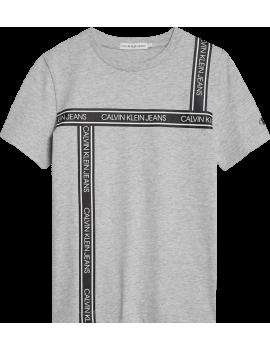 Calvin Klein - T-Shirt - Tape Logo - Light Grey