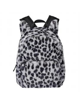 Molo - Furry Backpack - Snowy Leo Fur