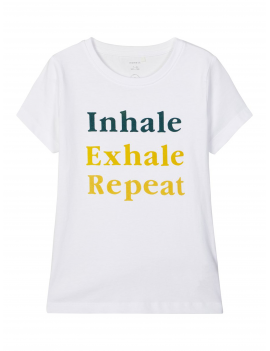 Name it - T-Shirt - Exhale - Bright White