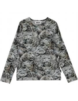 Molo - Longsleeve - Rose - Winter Leopards