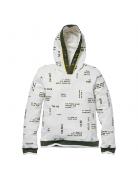 Quapi - Sweater - Kees - AOP Off White Text