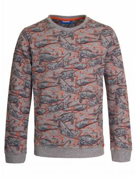 Someone - Sweater - Jet - Grey Melange