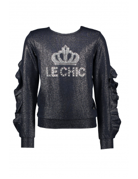 Le Chic - Sweater - Crown - Navy Blue