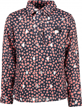 Le Chic - Blouse - Hearts - Navy