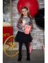 LoFff - T-Shirt - Popcorn Elena - Black
