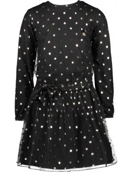 Le Chic - Jurk - Leopard Dots - Zwart