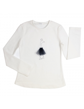 Gymp - Longsleeve - Strass Goose - Off White/Navy